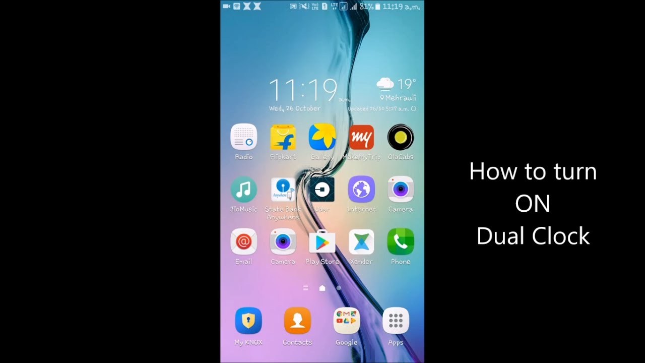 How To Turn On Dual Clock On Samsung Galaxy J5 Youtube