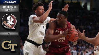 Georgia Tech vs. Florida State Condensed Game | 2018-19 ACC Basketball