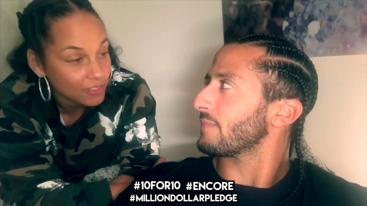 Colin Kaepernick's | Million Dollar Pledge | #10 for 10 Encore w/ Alicia Keys