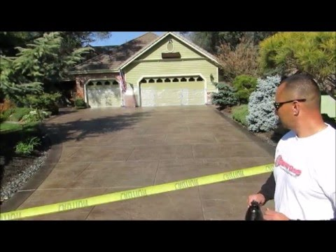 Endurable Concrete Stain and Seal Exterior Application