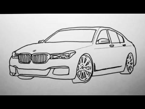 Как нарисовать машину БМВ легко/How To Draw A Car BMW Easy