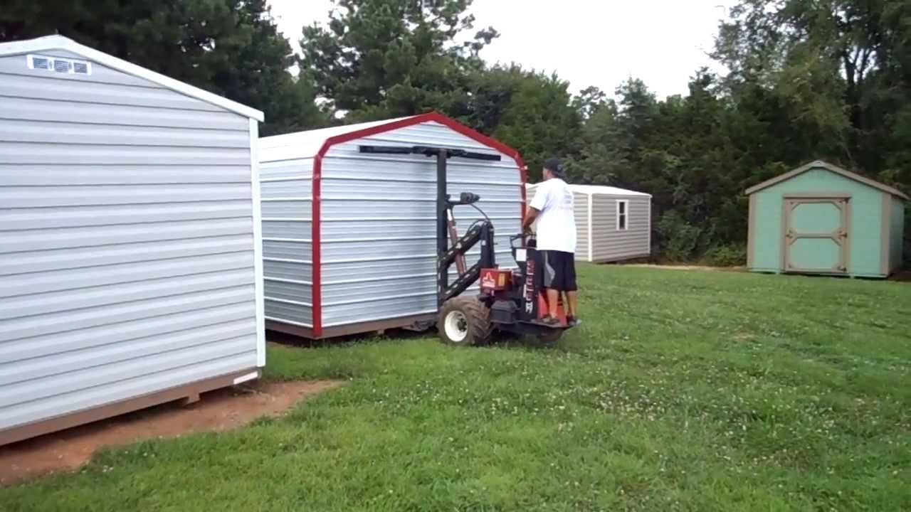cool sheds mule shed tractor at work youtube