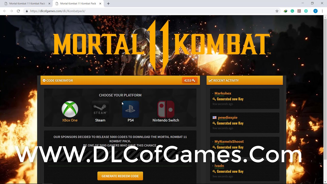 How to Get Mortal Kombat 11 Kombat Pack Free Download Code -  PC/PS4/SWITCH/Xbox ONE