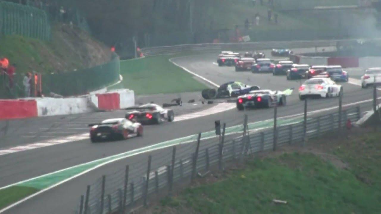 Spa Francorchamps 1000KM Le Mans Series Crash Eua Rouge