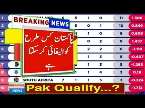 Points Table After 41 Match Who To Pakistan Qualify_Talib Sports