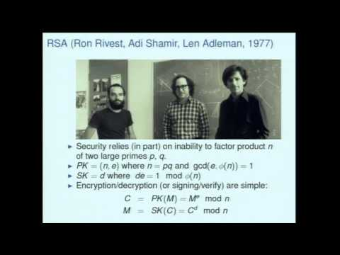 Ronald Rivest's Killian Lecture at MIT: The Growth of Cryptography