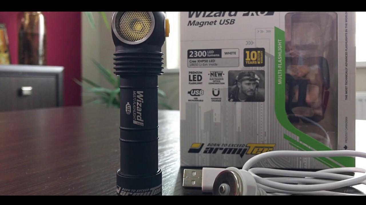 Armytek Wizard Pro V3 Magnet Usb Unbox Youtube