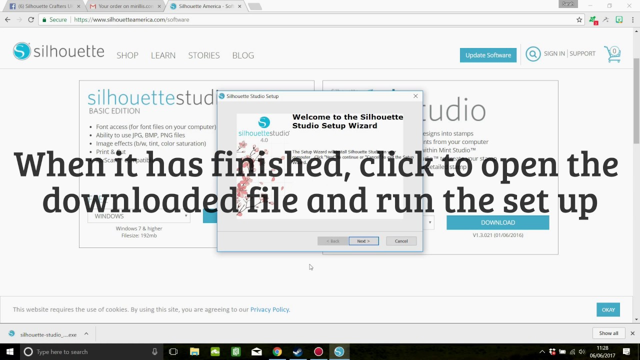 How to Download and install Silhouette Studio V4