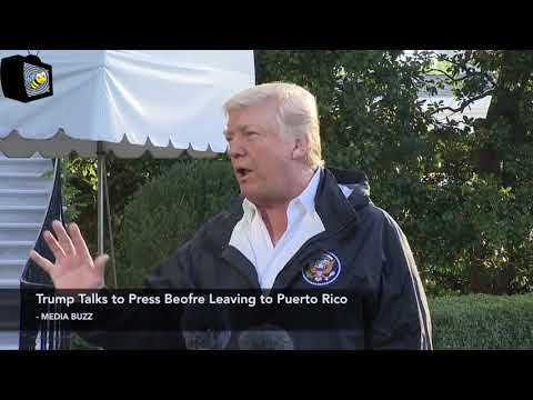 Trump Talks to Press Before Leaving for Puerto Rico 10/3/17