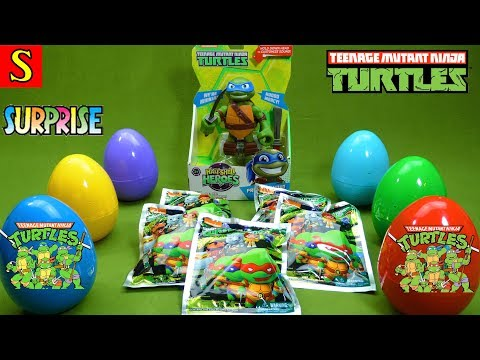 Teenage Mutant Ninja Turtles Toys Press and Shout Leo Blind Bags & Surprise Egg Figures