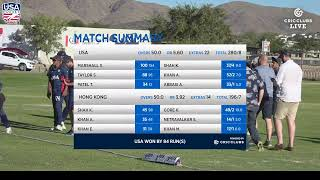 LIVE CRICKET - USA v HONG KONG ICC World Cricket League Division 2