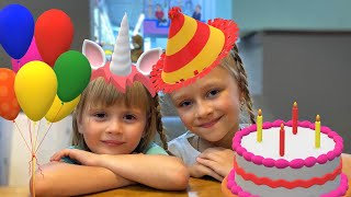 День рождение Арины | Подарки для девочки и распаковка коробок | Tiki Taki Kids