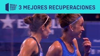 Las 3 Mejores Recuperaciones HERBALIFE del Estrella Damm Madrid Master | World Padel Tour