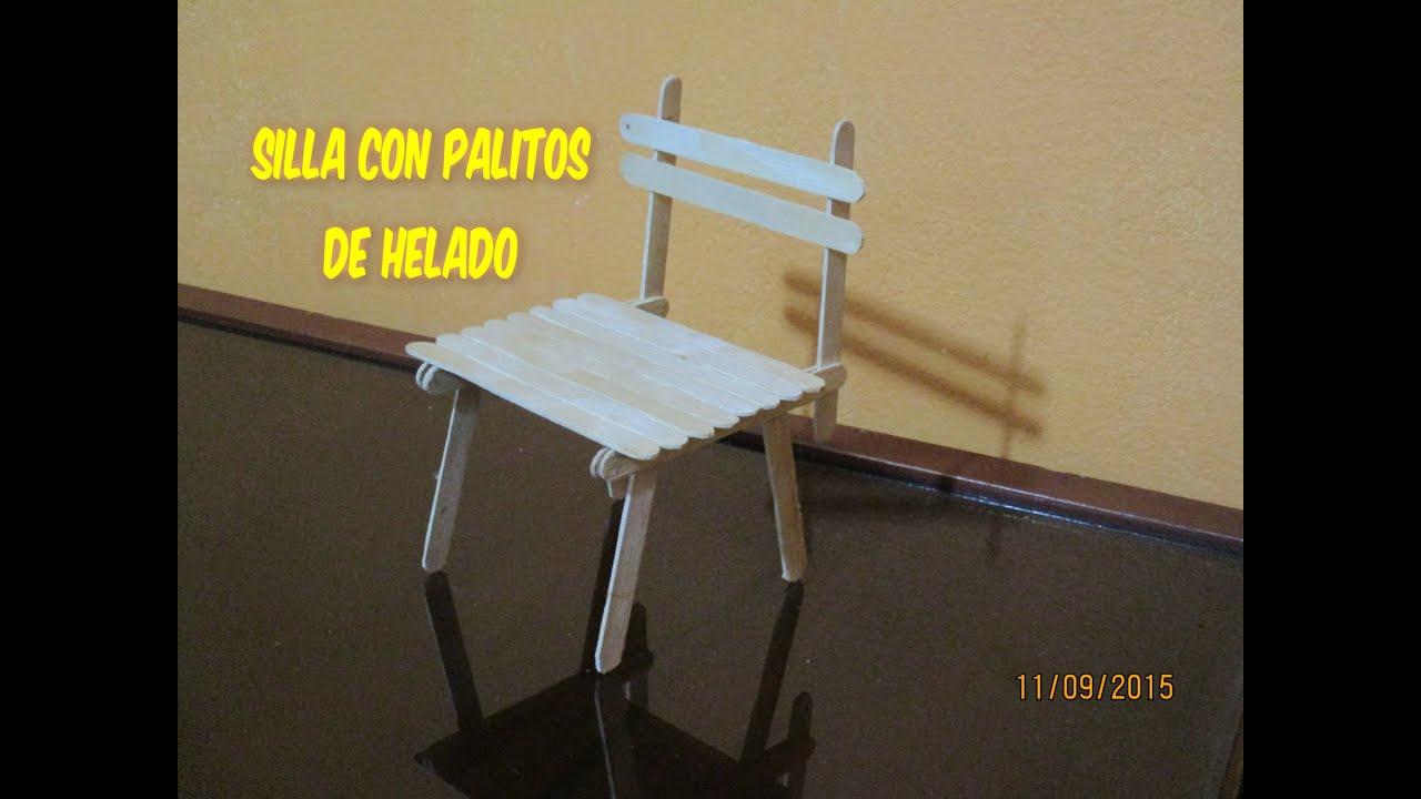 C mo hacer una silla con palitos de helado youtube - Como se elabora una silla de madera ...