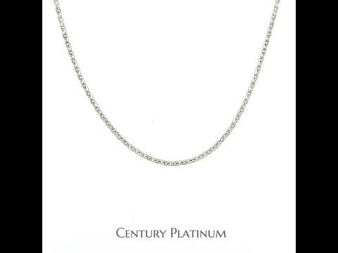 世紀白金 PT950 鉑金項鍊 白金項鍊  (約43cm) 洗溫泉OK 天然白色 永不變黑 WNZ013