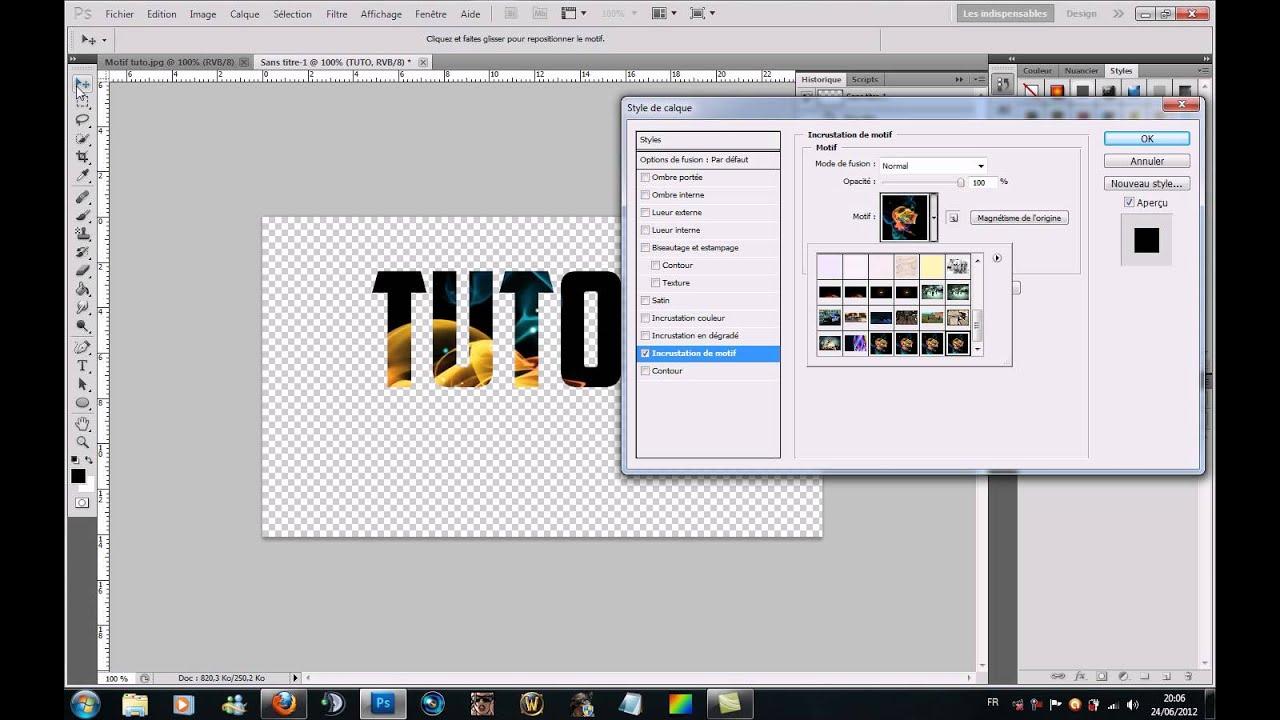 tutoriel photoshop cs5 - comment mettre une image dans un texte