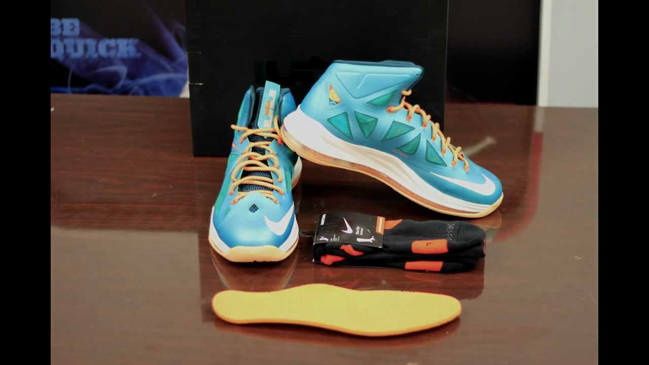 save off cd15f 3a5e6 Nike LeBron 10 Dolphin Review