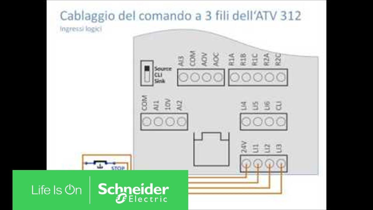 Schema Di Cablaggio : Cablaggio della morsettiera di controllo di altivar atv