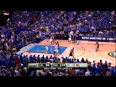 Mavs's crowd sing Hey Hey Goodbye! to the Lakers in 2011 WCSF