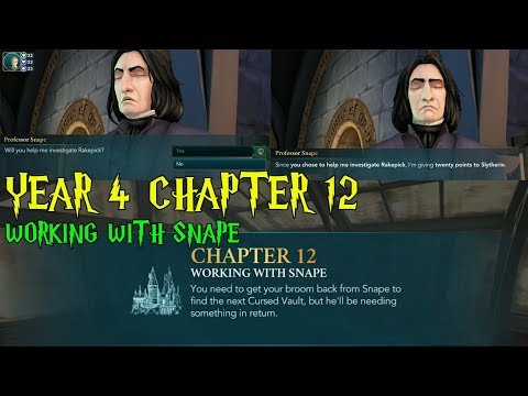 Harry Potter Hogwarts Mystery Year 4 Chapter 12 Working With Snape Gameplay