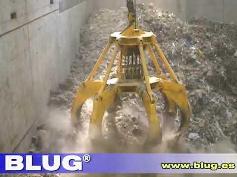 BLUG Mechanical orange peel grab (PM4-0,7)/ Pulpo mecánico RSU.