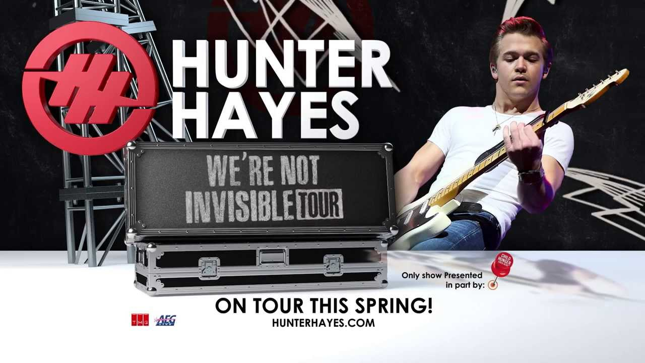 Hunter Hayes - We're Not Invisible Tour 2014 - YouTube