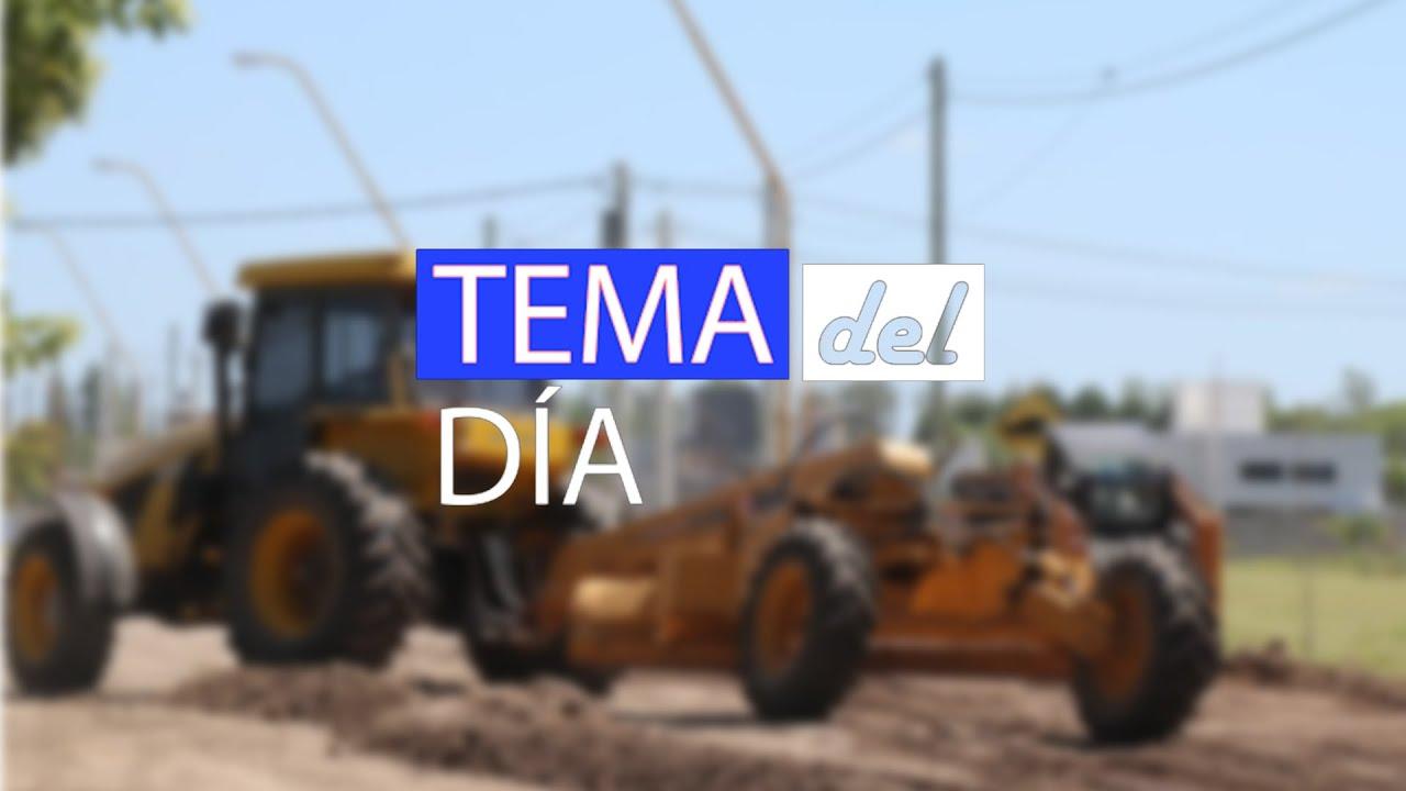 Tema del Día - Comenzó la pavimentación en Libertador Norte