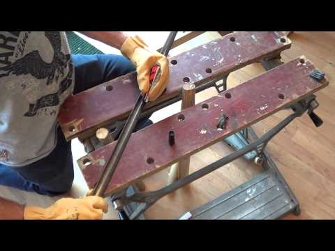 Trying to straighten an antique sword... and a surprise