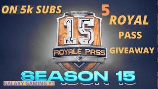 🔴 PUBG MOBILE LIVE SEASON 15  | 5 ROYAL PASS GIVEAWAY | ROAD TO 5K SUBS | Dynamo Gaming |