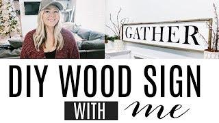 DIY WOOD FRAMED GATHER SIGN | FARMHOUSE DECOR SIGN