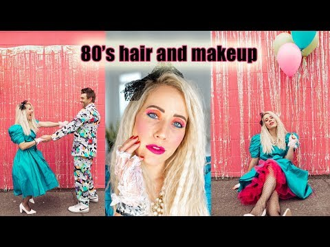 80's Hair And Makeup Tutorial + Costume For Halloween!