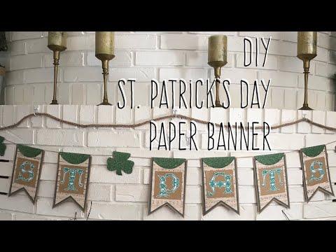 DIY St. Patrick's Day Paper Banner