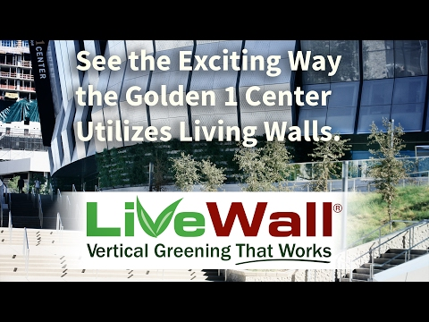 Green Walls at Golden 1 Center, Home of NBA