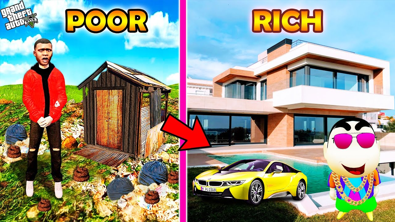 Download GTA 5 : Franklin become Poor & Shinchan Become Billionaire in GTA 5 ! (GTA 5 mods)
