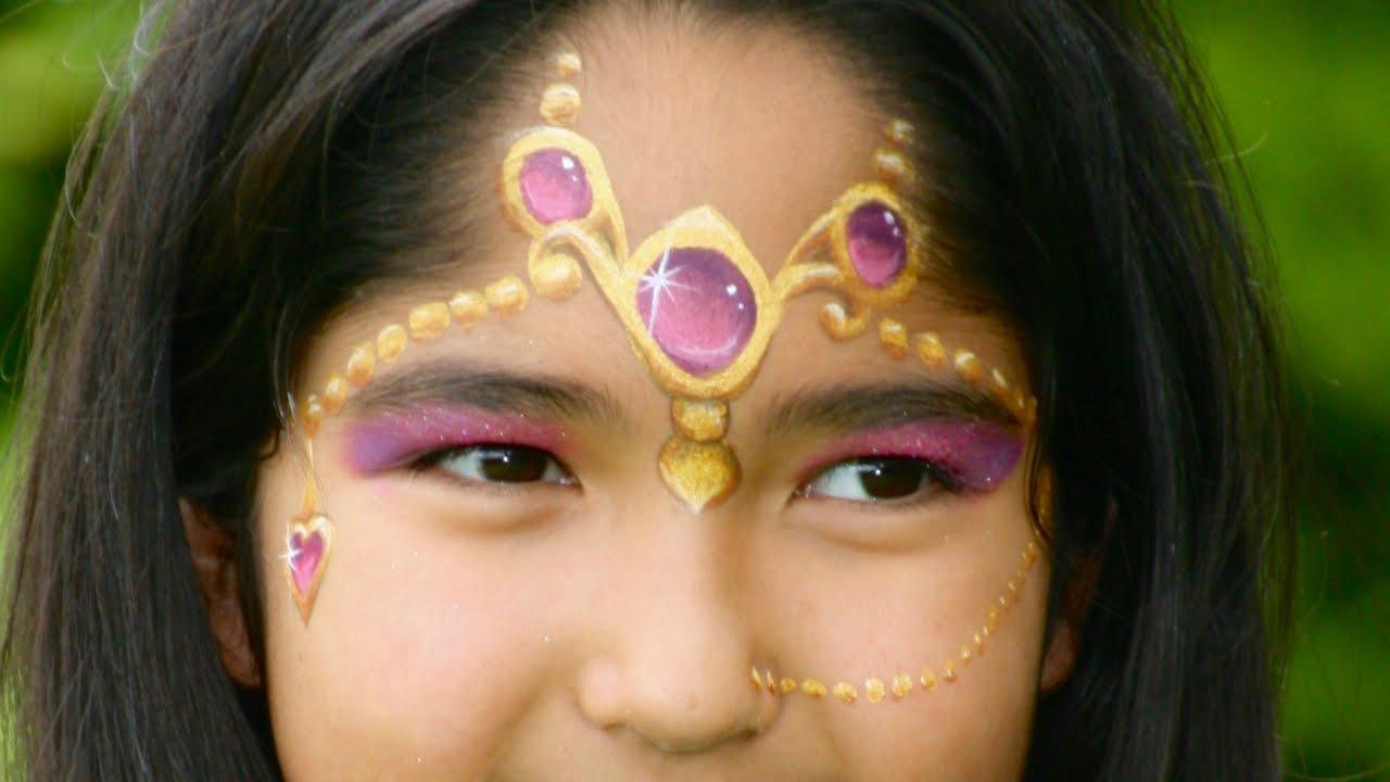 Maquillage de princesse orientale princesse des 1001 nuits tutoriel maquillage des enfants - Maquillage princesse facile ...