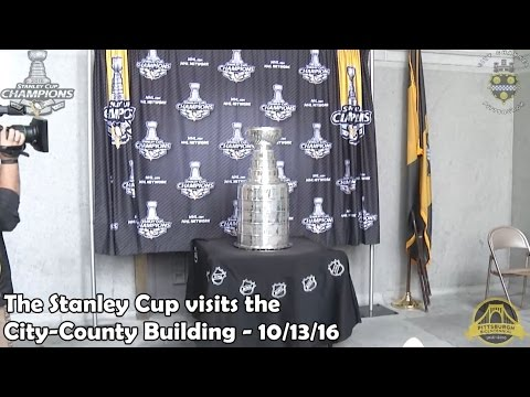 The Stanley Cup visits the City-County Building - 10/13/16