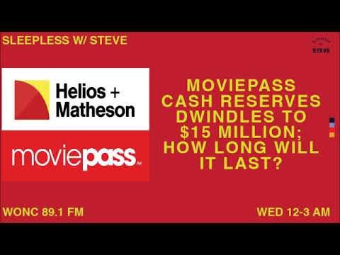 MoviePass cash reserve dwindles to $15 million: how long can it last? | Sleepless with Steve