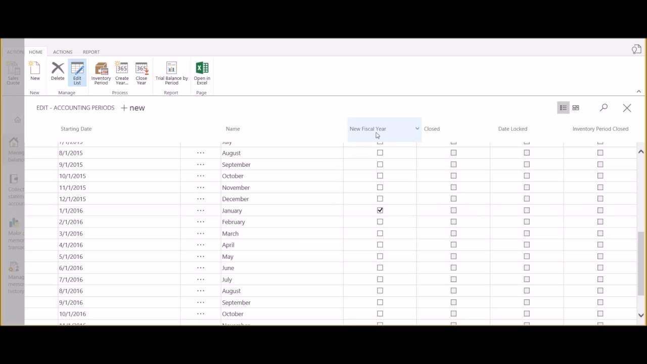 How to Setup New Accounting Periods in Dynamics 365 for