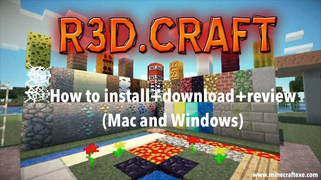 How to install R3D.CRAFT Texture Pack 1.13/1.12.2/1.11.2 - YouTube
