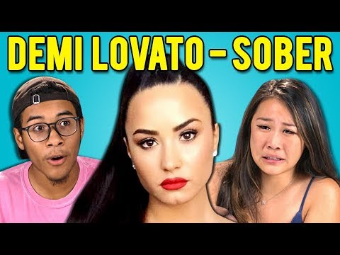 TEENS REACT TO DEMI LOVATO - SOBER