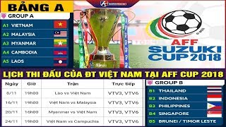 Lịch Thi Đấu AFF Cup 2018 Không Còn Ai Ngăn Việt Nam Vô Địch Khiến HLV Park Hang Seo Thở Phào