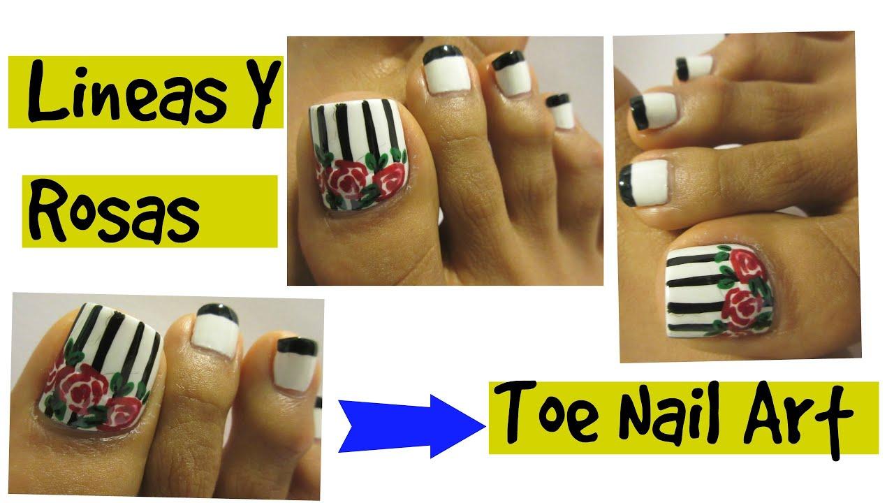 Como Pintar Las Uñas De Los Pies Paso A Paso Spring Toe Nail Art