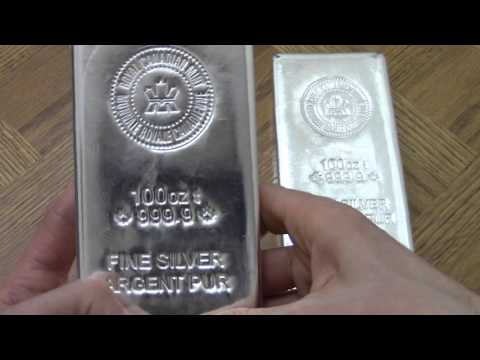 200 Ounce RCM Silver bars