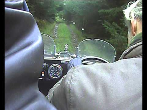 Austin Seven Ulster, 2011 VSCC Lakeland Trial, In car Footage.