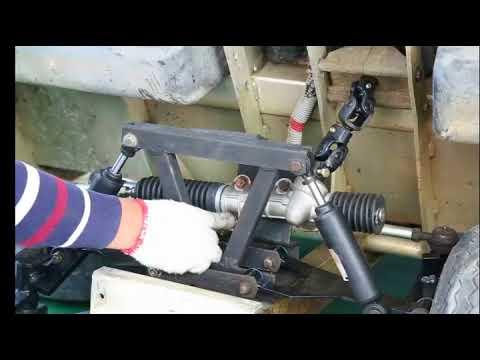 golf cart club car ds steering gear box assembly installation video Club Car Tie Rod Diagram