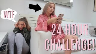 I spent the Night in my BEST FRIENDS house & she had no Idea...😱 (24 Hour Challenge)