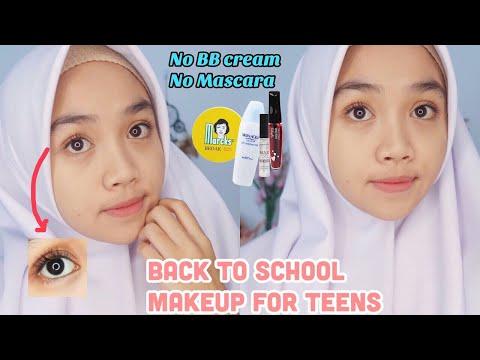 Makeup Ke Sekolah Untuk Remaja || Back To School Makeup