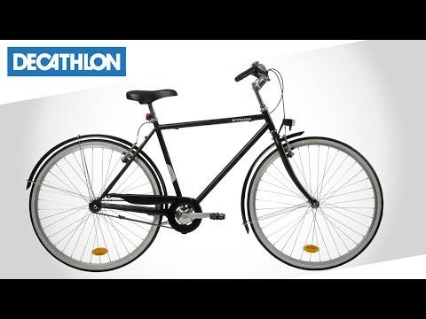 City Bike Elops 100 Di Btwin Decathlon Italia Youtube