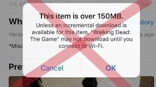 Bypass 150 MB Download Limit in App Store over Cellular Data iOS 11.2 | iOS 10 | iPhone, iPad | 2018