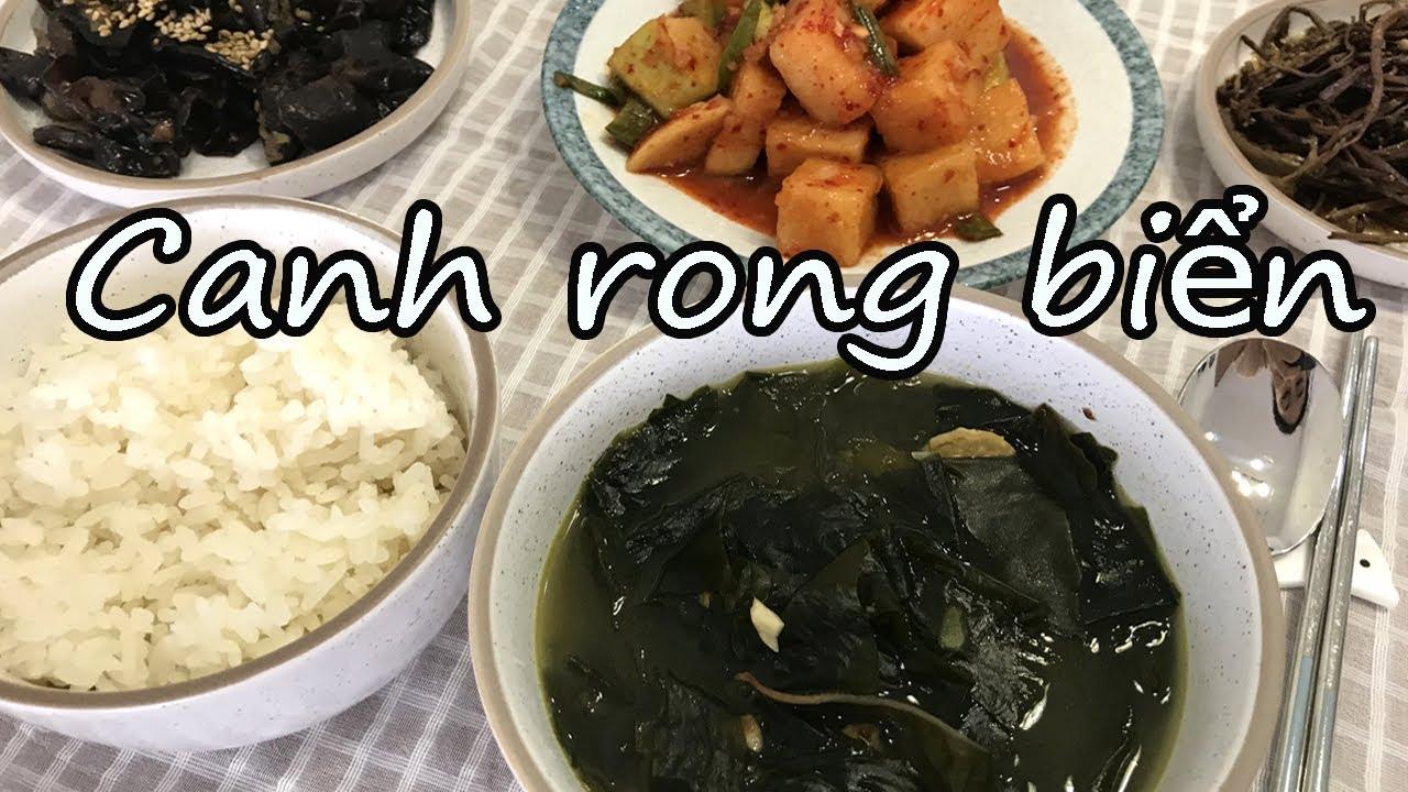 [Canh rong biển Hàn Quốc] Món ăn vào ngày sinh nhật ở Hàn Quốc